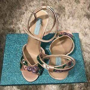Betsy Johnson floral heels